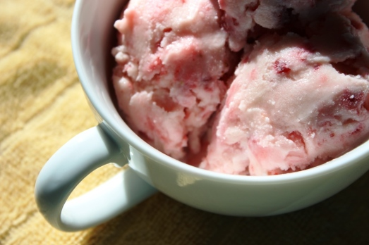 Strawberry Frozen Yogurt - cup