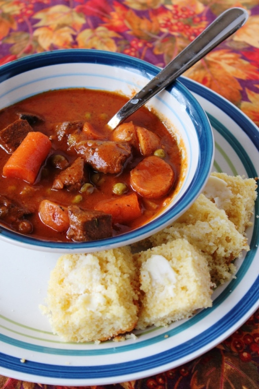 Hearty Stew & Honey Cornbread >> Baking Bytes