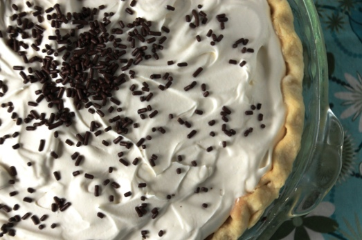Chocolate Pudding Pie with Baileys Whipped Cream {{Baking Bytes}}