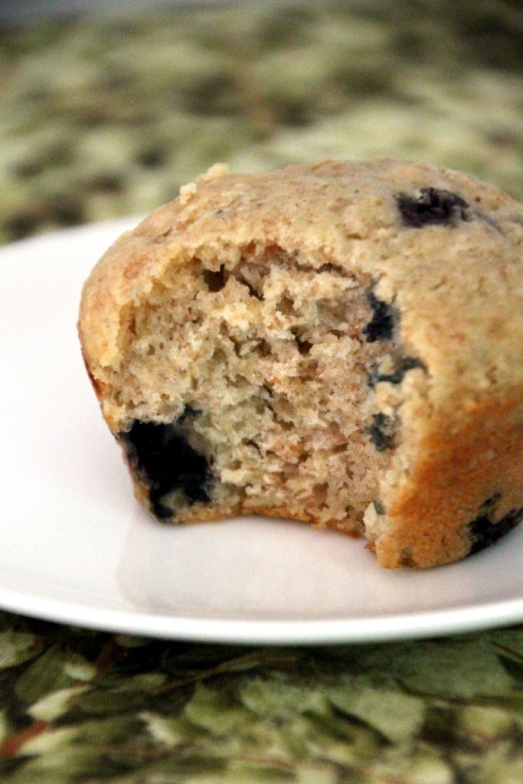 Energizing Oatmeal Blueberry Muffins {{Baking Bytes}}