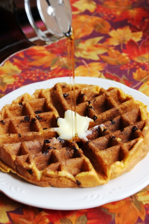 Pumpkin Belgian Waffles {{Baking Bytes}}