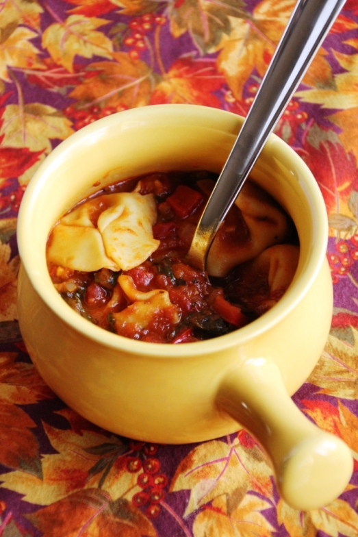 Tortellini Tomato Soup {{Baking Bytes}}
