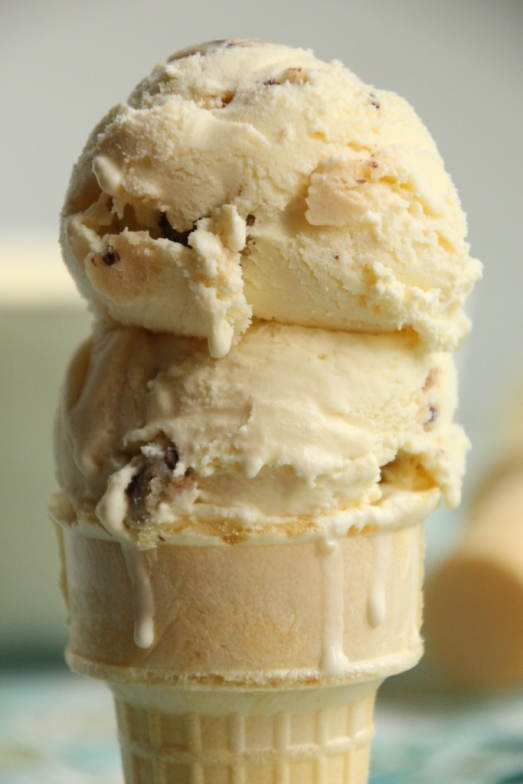 Chocolate Chip Cookie Dough Ice Cream {{Baking Bytes}}