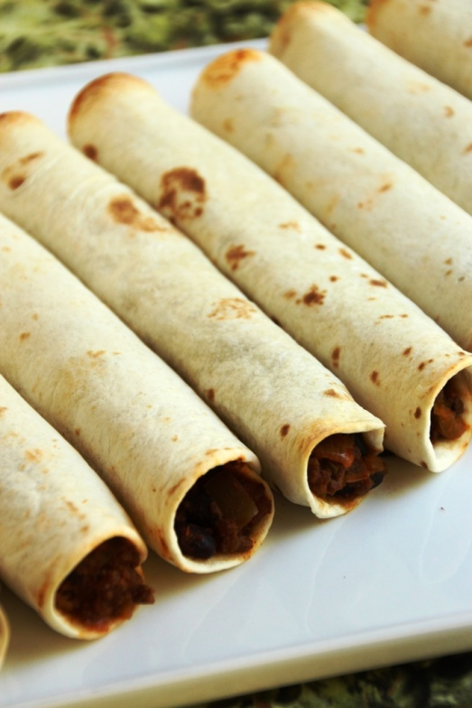 Baked Beef & Bean Taquitos {{Baking Bytes}}