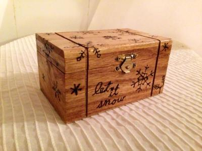 Wood burned box