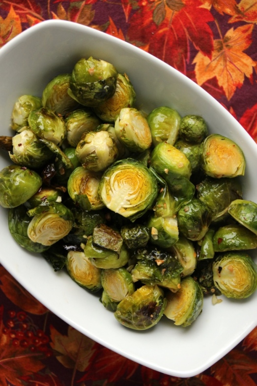 Garlic Roasted Brussels Sprouts {{Baking Bytes}}