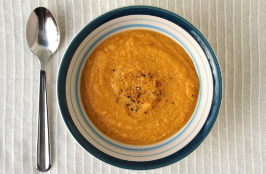 Apple Pumpkin Roasted Butternut Squash Soup {{Baking Bytes}}