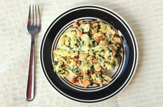 Smoked Salmon & Spinach Scrambled Eggs {{Baking Bytes}}