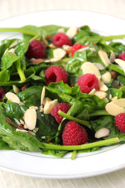 Lemon Raspberry Spinach Salad {{Baking Bytes}}
