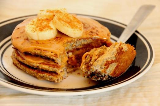 Banana Protein Pancakes {{Baking Bytes}}