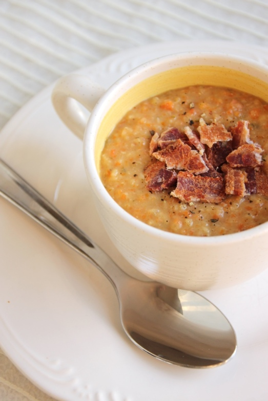 [Slow cooker] Bacon Bean Soup {{Baking Bytes}}