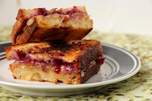 Huckle-Bacon Brie Grilled Cheese {{Baking Bytes}}