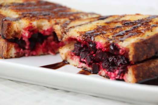 Beet & Feta Grilled Cheese {{Baking Bytes}}