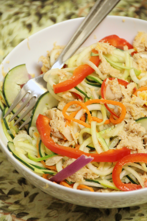 Tuna Zoodle Salad {{Baking Bytes}}