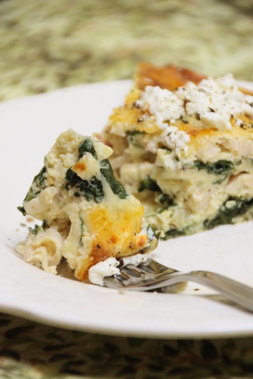Spinach & Gruyere Crustless Quiche {{Baking Bytes}}