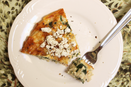 Spinach & Gruyere Crustless Quiche {{Baking Bytes}}