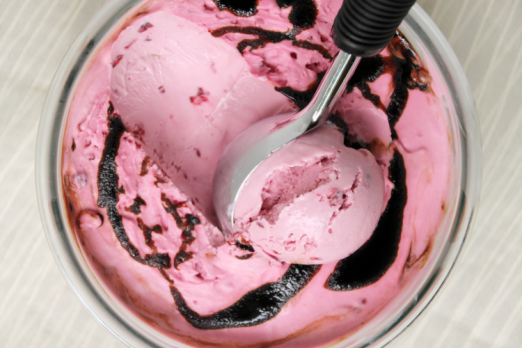 Blackberry Chèvre Ice Cream with Chocolate Balsamic Swirl {{Baking Bytes}}