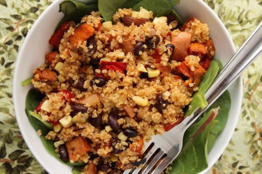 Mexican Sweet Potato Quinoa Salad {{Baking Bytes}}