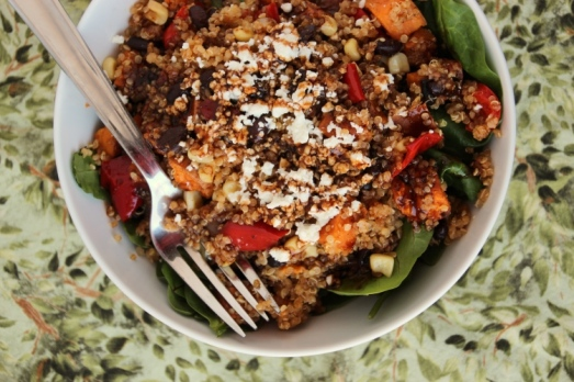 Mexican Sweet Potato Quinoa Salad {{Baking Bytes}}