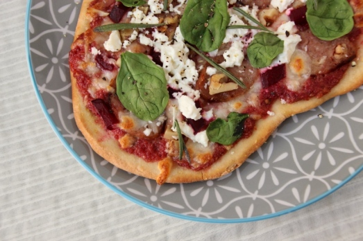 Beet & Walnut Pesto Pizza {{Baking Bytes}}