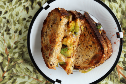 Brussels & Gouda Grilled Cheese {{Baking Bytes}}
