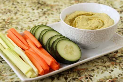 Cucumber Basil Hummus {{Baking Bytes}}
