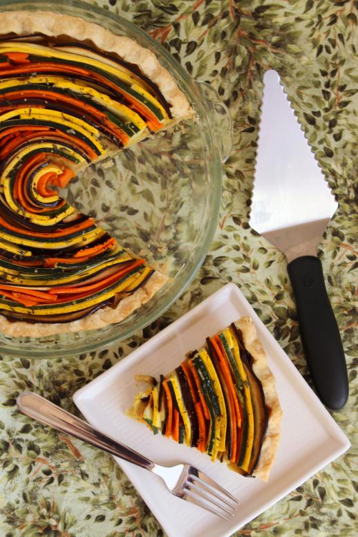 Squash & Lemon Spiral Tart {{Baking Bytes}}