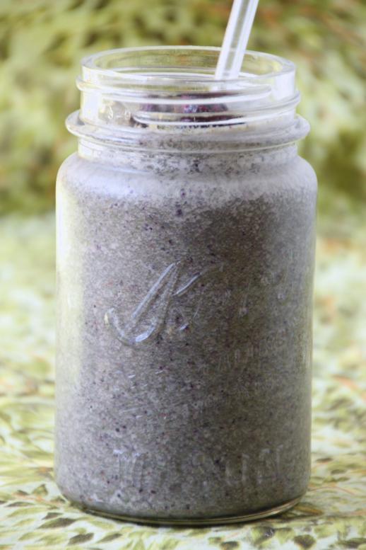 Blueberry Cardamom Smoothie {{Baking Bytes}}