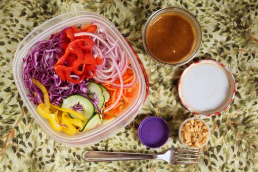 Thai Peanut Zoodle Salad {{Baking Bytes}}