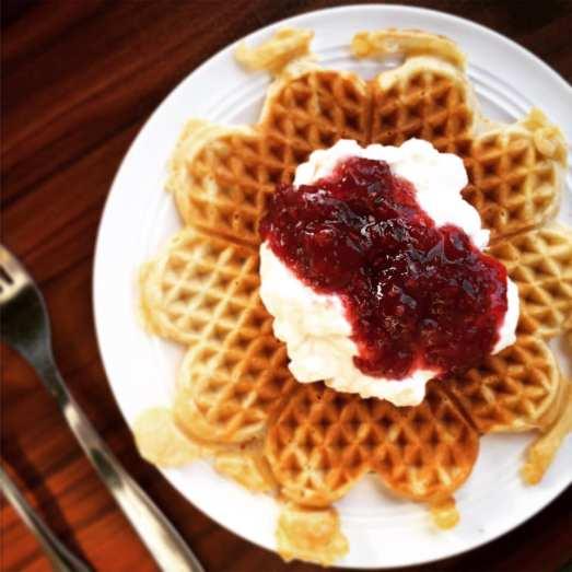 Knutehytta Waffle {{Baking Bytes}}